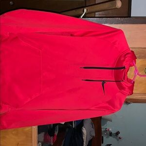 Red nike pullover